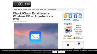 Check iCloud Email from a Windows PC or Anywhere via Web