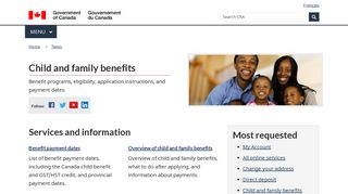 Child and family benefits - Canada.ca