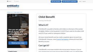 Child Benefit - Entitledto