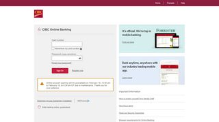 CIBC Online Banking: Sign on