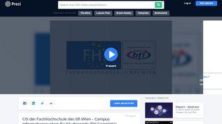 CIS der Fachhochschule des bfi Wien - Campus Informationssystem ...