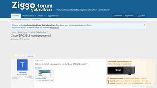 Cisco EPC3212 login gegevens? | Ziggo Gebruikersforum