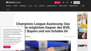 CL-Auslosung: Die möglichen Gegner von BVB, Bayern und Schalke ...