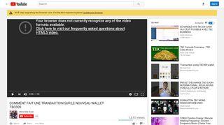 comment fait une transaction sur le nouveau wallet tbc009 - YouTube