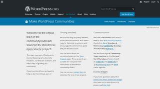 CommHub Update - make WordPress.org