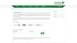 Compensa Life » E-services » e-life » Logon