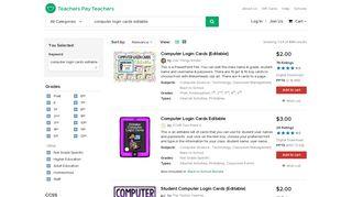 Computer Login Cards Editable Teaching Resources | Teachers ...
