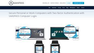 Computer Login - Two-factor Authentication | SAASPASS