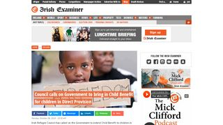 Council calls on Government to bring in Child Benefit for children in ...