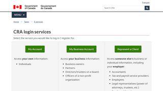 CRA login services - Canada.ca
