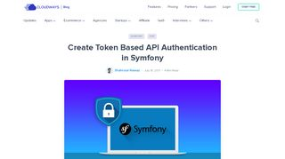 Create Token Based API Authentication in Symfony - Cloudways