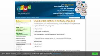 CSS border: Rahmen und Umrandungen - HTML-Seminar