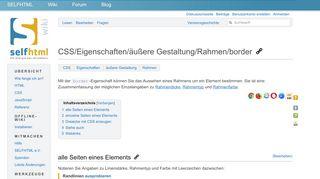 CSS/Eigenschaften/äußere Gestaltung/Rahmen/border – SELFHTML ...