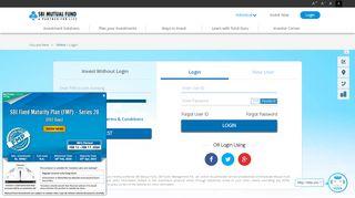 Customer Login - Online Transaction Platform | SBI Mutual Fund