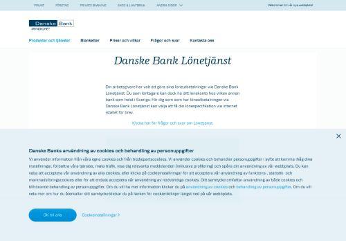 Danske Bank Lönetjänst | Danske Bank