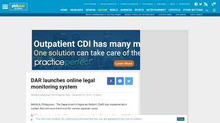 DAR launches online legal monitoring system   Philstar.com