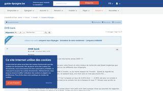DHB bank - Guide-epargne forum