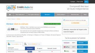 DHB Bank : le financement auto | Crédit-Auto.be
