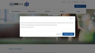 DHB Bank - Nous contacter
