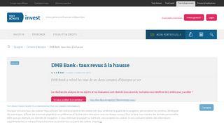 DHB Bank : taux revus à la hausse - Test-Achats