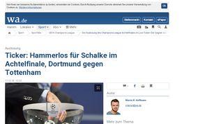 Die Auslosung des Champions-League-Achtelfinales im Live-Ticker ...