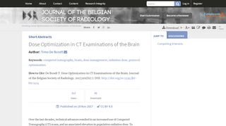 Dose Optimization in CT Examinations of the Brain