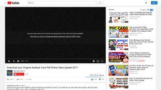 Download your Original Aadhaar Card Pdf Online | New ... - YouTube