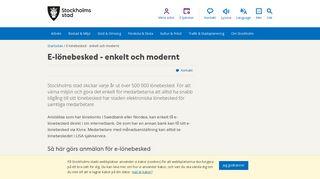 E-lönebesked - enkelt och modernt - stockholm.se