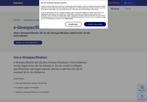 e-lönespecifikation - digitalt i Internetbanken | Nordea.se