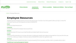 Employee Resources | Floyd Health - Floyd.org