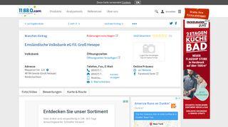 ▷ Emsländische Volksbank eG Fil. Groß Hesepe | Tel. (05937) 70997 ...
