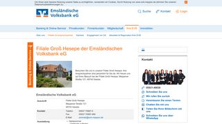 Emsländische Volksbank eG Filiale Groß Hesepe - EVB Meppen