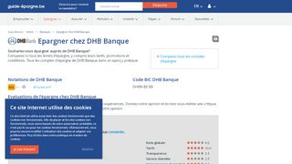 Epargner chez DHB Banque - Guide-Epargne.be