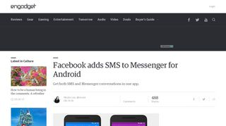 Facebook adds SMS to Messenger for Android - Engadget
