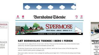 Feriestop avisen » Bornholms Tidende