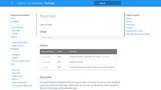 floyd login - FloydHub Documentation