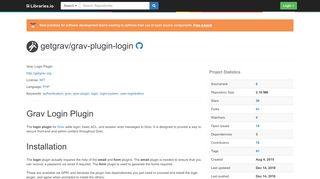 getgrav/grav-plugin-login - Libraries.io