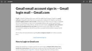 Gmail email account sign in - Gmail login mail - Gmail.com - Scalar