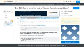 Grav CMS: how to show/hide parts of the page depending on ...