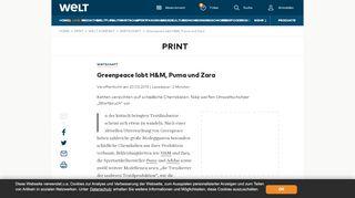 Greenpeace lobt H&M, Puma und Zara - WELT