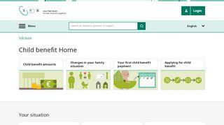 homepage for child benefit (AKW)   Child benefit   SVB