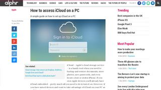 How to access iCloud on a PC | Alphr
