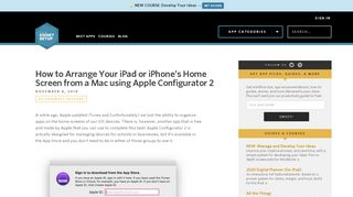 How to Arrange Your iPad or iPhone's Home Screen from a Mac using ...