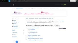 How to Authenticate Users with API Keys (Symfony 4.0 Docs)