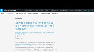 How to Change Your Windows 10 Login Screen Background ...