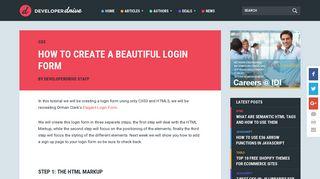 How to create a beautiful login form - Developer Drive
