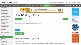 How To Create a Login Form - W3Schools