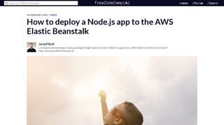 How to deploy a Node.js app to the AWS Elastic Beanstalk