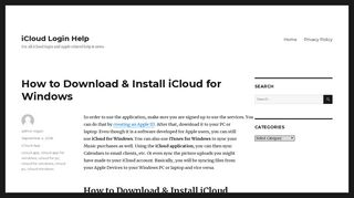 How to Download & Install iCloud for Windows - iCloud Login Help
