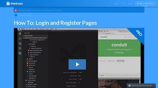 How To: Login and Register Pages - Thinkster